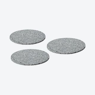Round Trivets - Grey - Rubber - Set of 3
