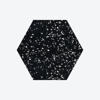 Hex Trivet - Speckled Black