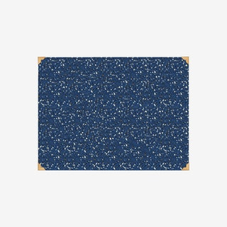Desk Mat - Navy Blue - Brass & Rubber