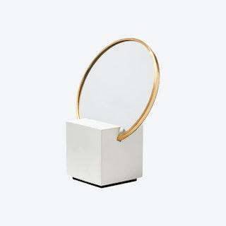 Slash Vanity Mirror - Black / White / Gold
