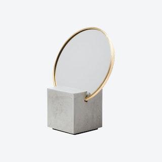 Slash Vanity Mirror - Grey / White / Gold