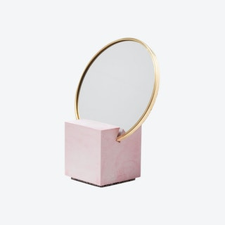 Slash Vanity Mirror - Pink / Navy / Gold