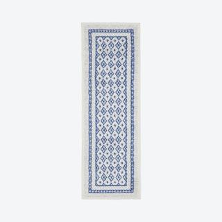 Whimsicle Runner Rug - Ivory / Blue - Geometric