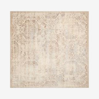 Graphic Illusions Square Area Rug - Ivory