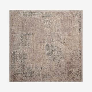 Graphic Illusions Square Area Rug - Grey