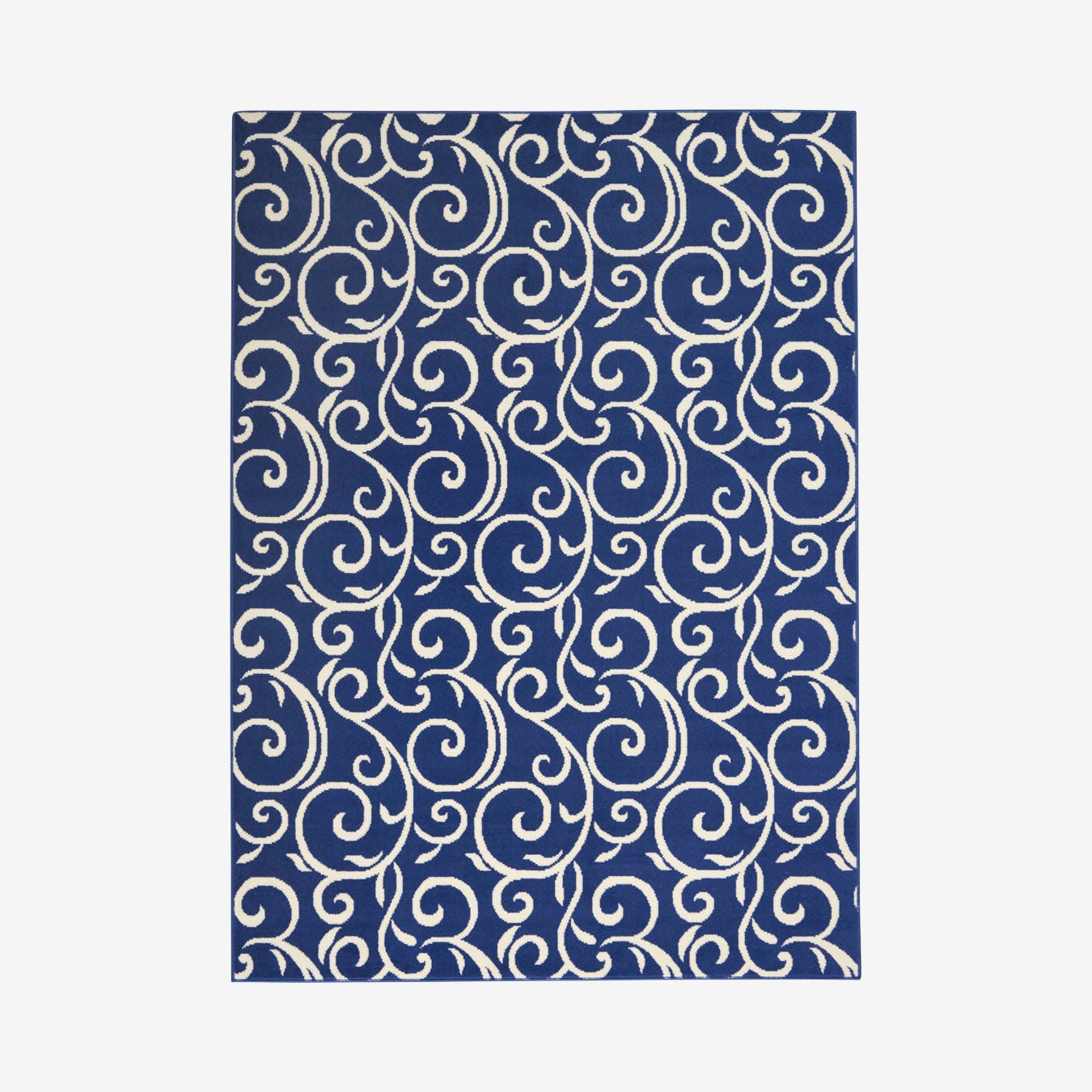 Picture of: Grafix Area Rug Navy White Floral By Nourison Fy