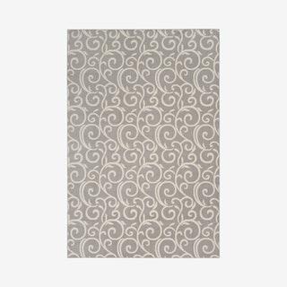 Grafix Area Rug - Grey / Ivory - Floral