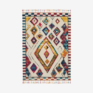 Moroccan Casbah Area Rug - Multicoloured - Trbal