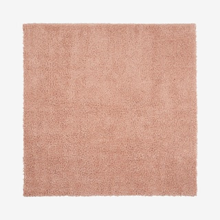 Malibu Shag Square Area Rug - Blush