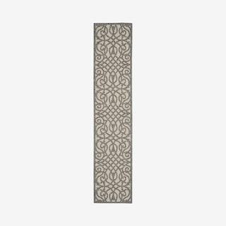 Palamos Runner Rug - Cream / Grey - Abstract