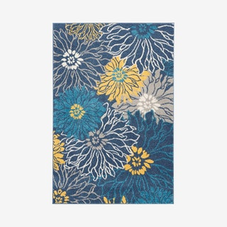 Passion Area Rug - Blue / Yellow