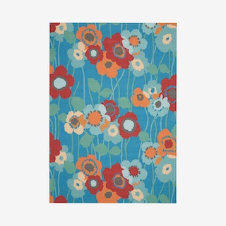 Waverly Sun N' Shade Area Rug - Blue - Floral