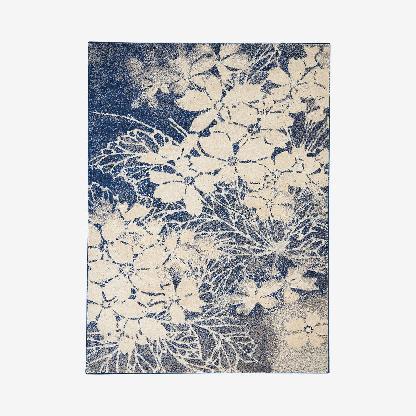 Tranquil Area Rug Navy Beige By Nourison Fy
