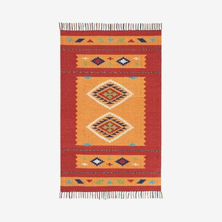 Baja Area Rug - Red / Orange