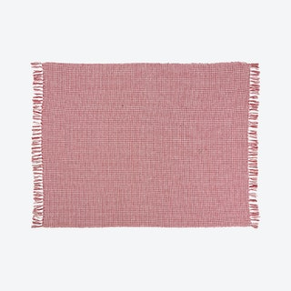 """Mina Victory Cotton Throw Blanket - Red"
