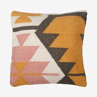 Desert Kilim Geometric Pillow Cover - Blush