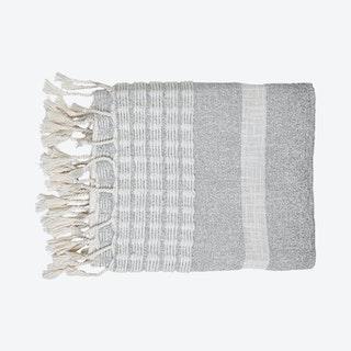 Dusk Stripe Throw - Grey / White