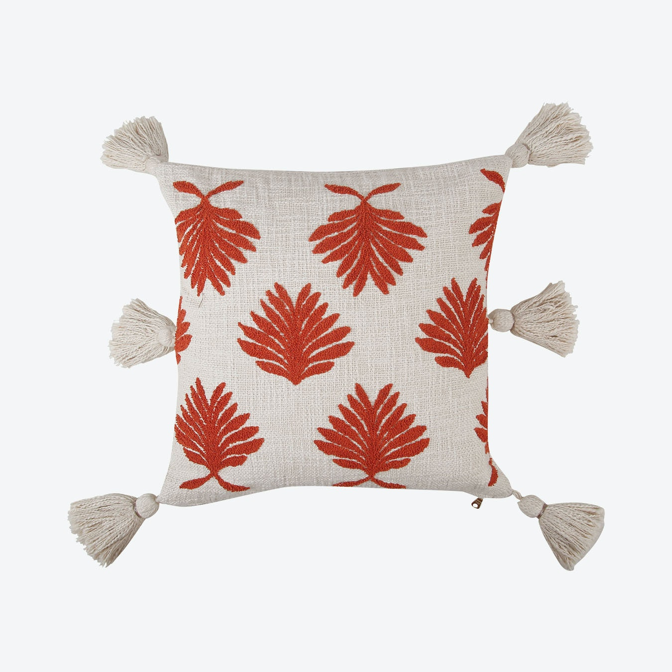 Hand Embroidered Petal Pillow Cover Burnt Orange By Casa Amarosa Fy