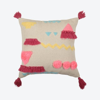 Rosa Abstract Cushion Cover - Pink