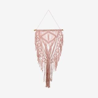 Rosa Macrame Wall Hanging - Pink