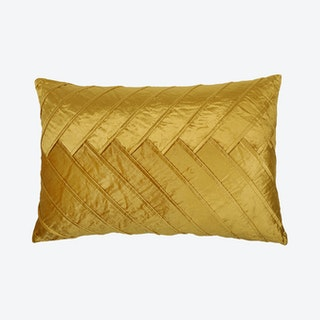 Pleated Cushion Cover - Mustard - Velvet