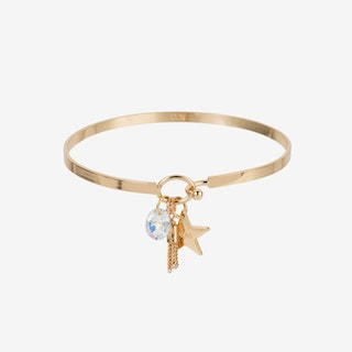 Star Cluster Bangle In Gold