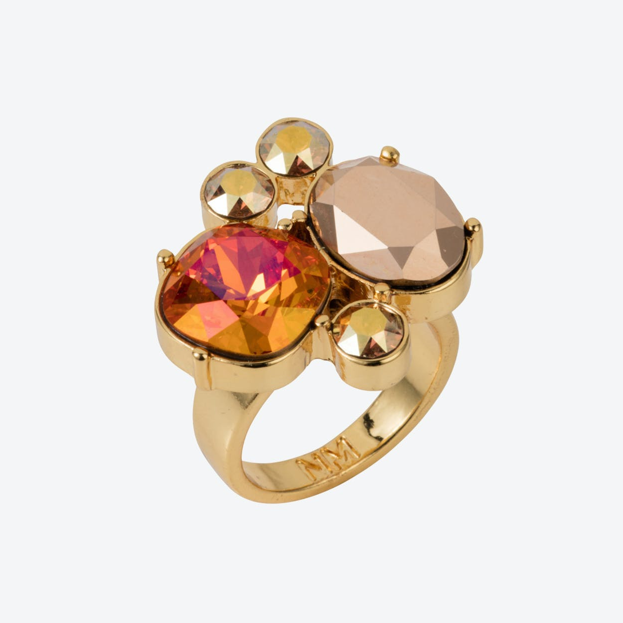 The Kate Cocktail Ring Gold Magma