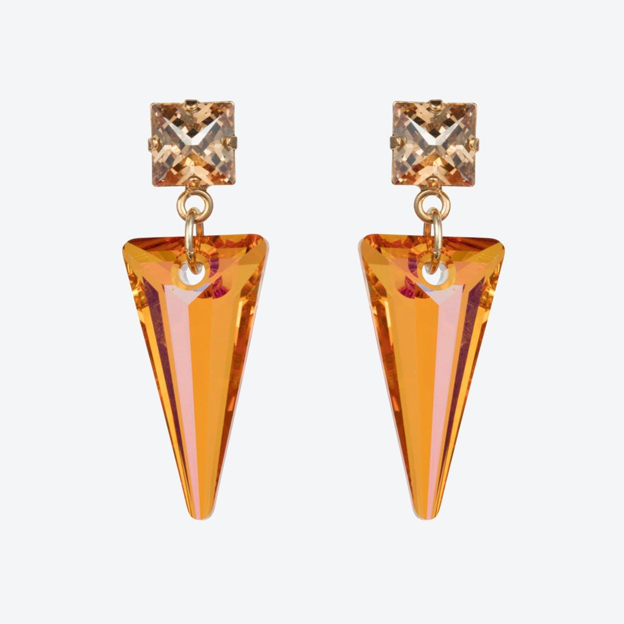 Crystal Shard Earrings – Magma