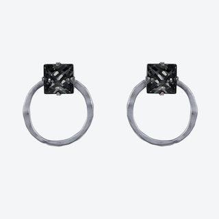 2 Part Hoop Earrings – Silver