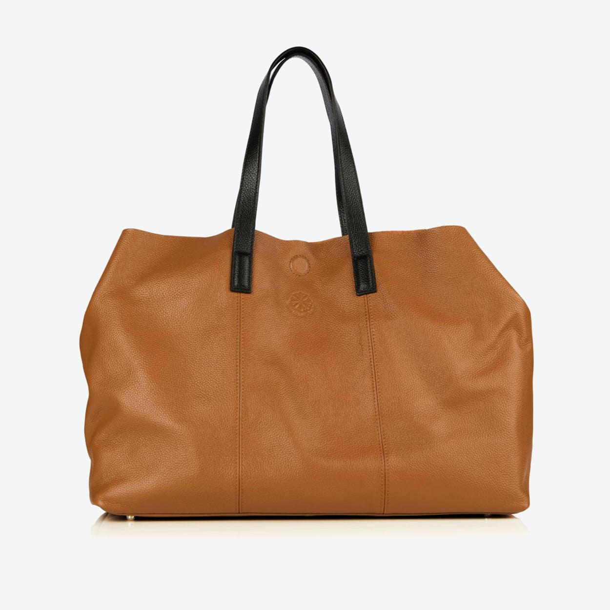 The Brewer Carryall - Cognac & Black