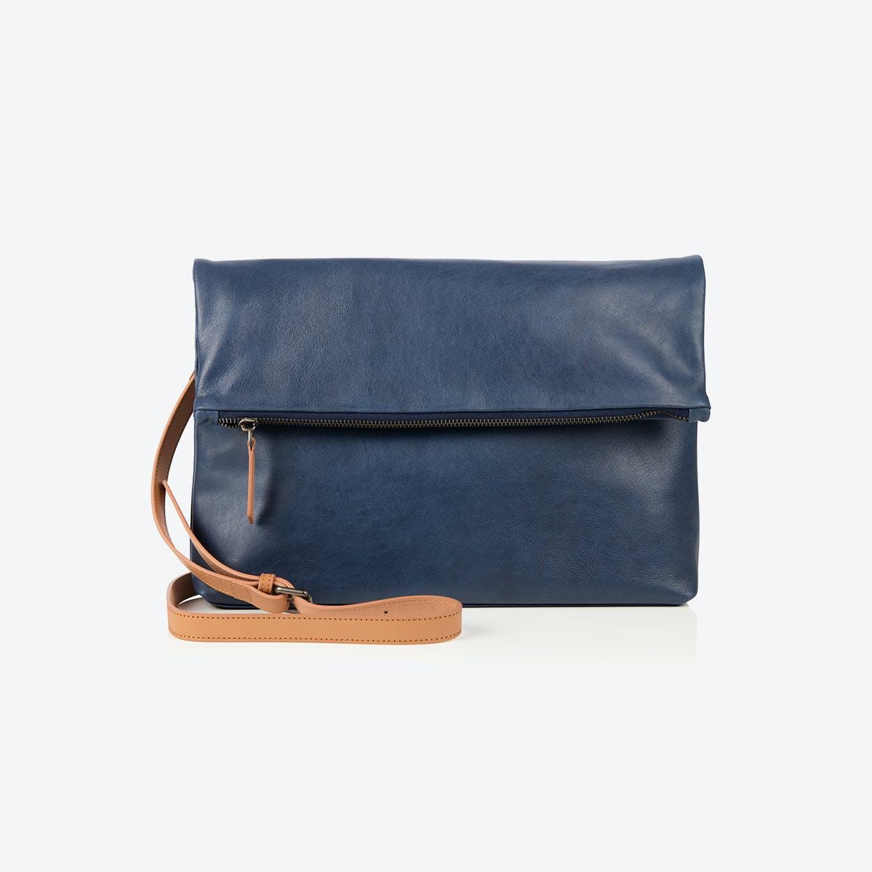 Rena foldover bag  in Blue