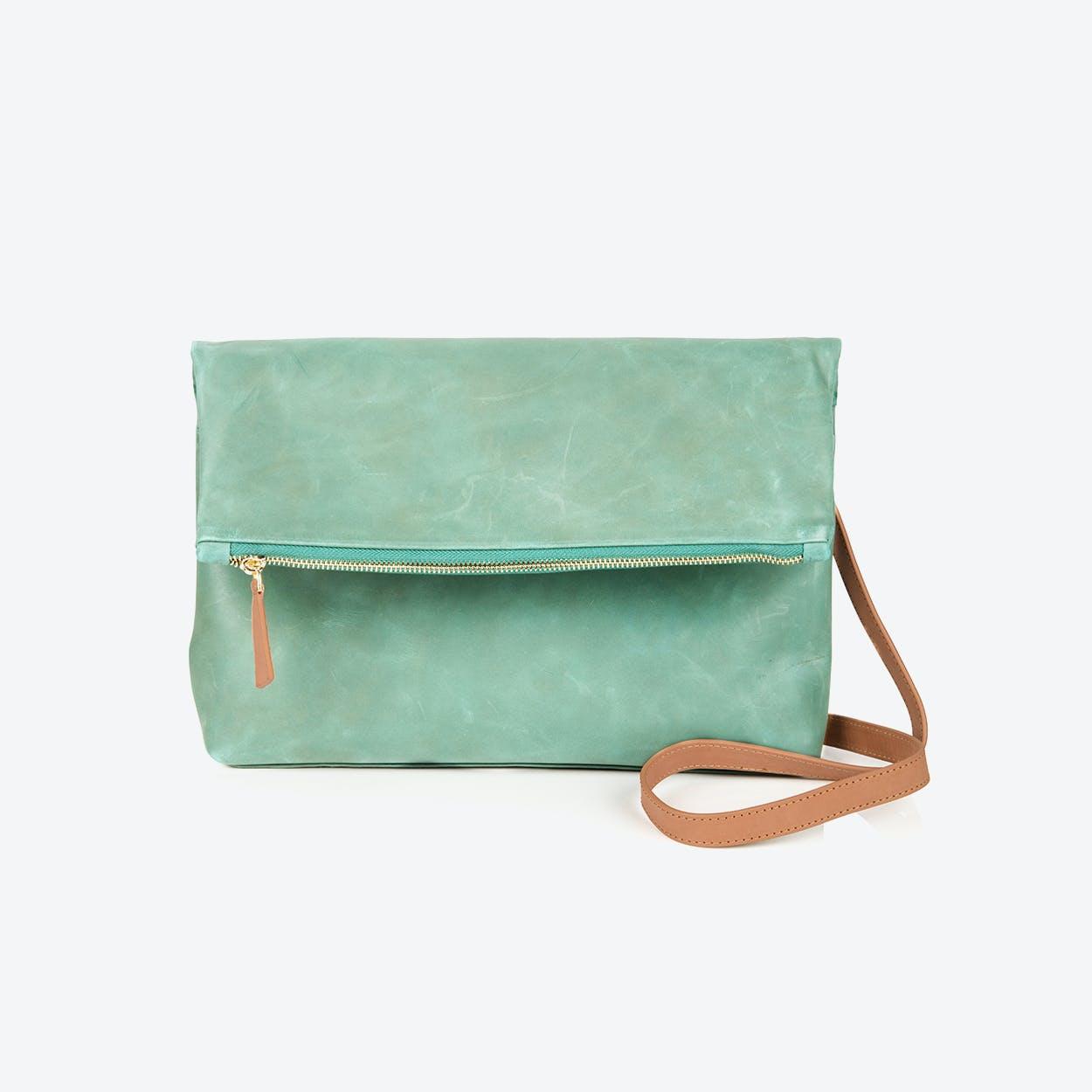 Rena foldover bag in Sage Green