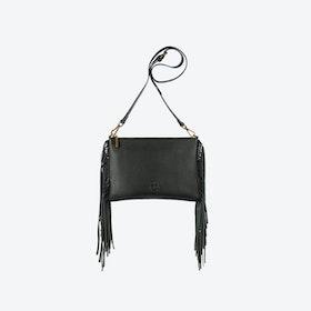 Angel Fringe Crossbody Bag in Black