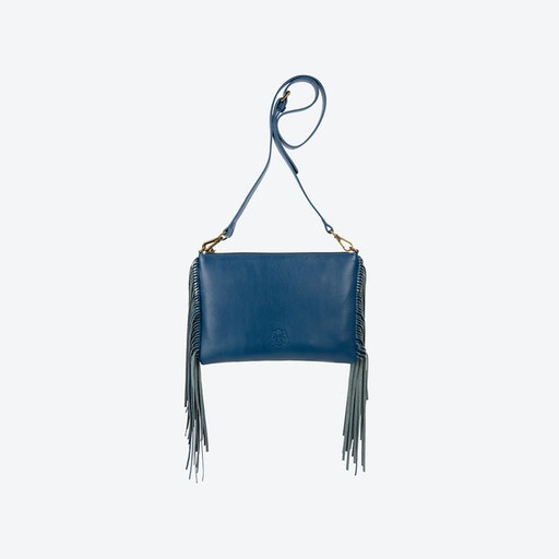 Angel Fringe Crossbody Bag in Blue