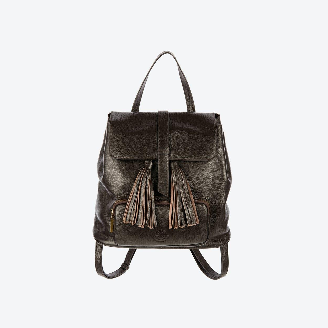 The Finsbury Backpack in Dark Brown