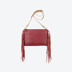 Angel Fringe in Oxblood