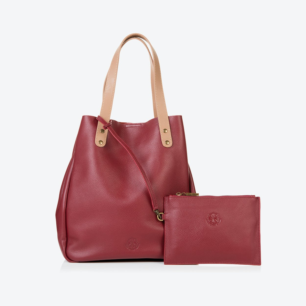 Camden Tote in Oxblood