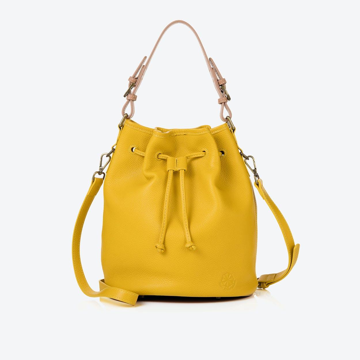 Islington Bucket Bag in Mustard