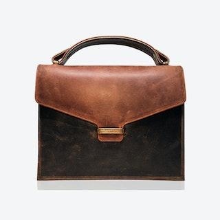 Fitzrovia Clutch in Tan & Copper