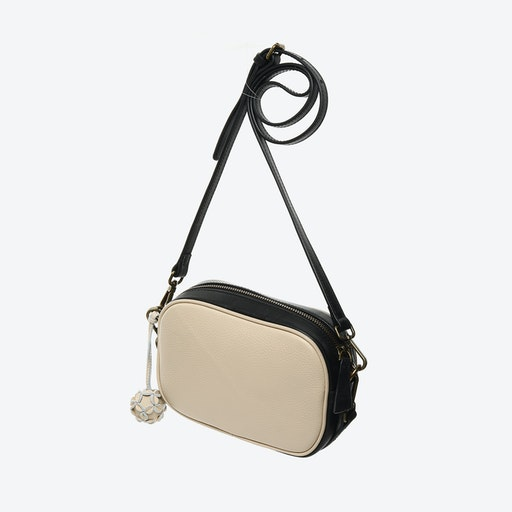 Borough Camera Bag in Beige with Black