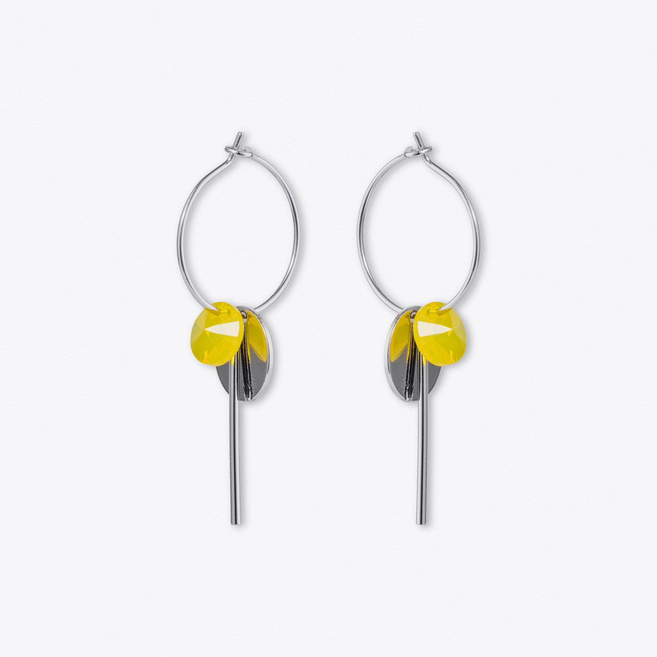 Hoop Cluster Earring In Silver