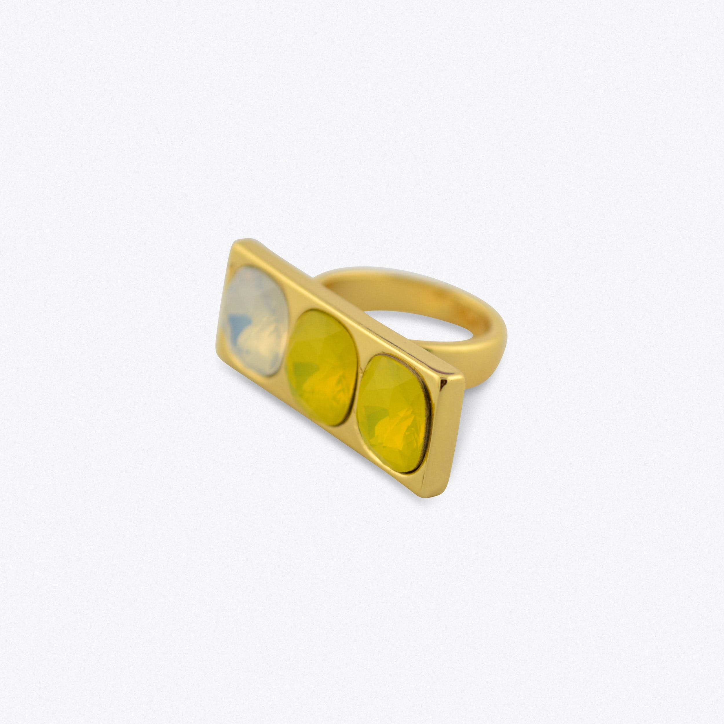Three Stone Ring In Gold
