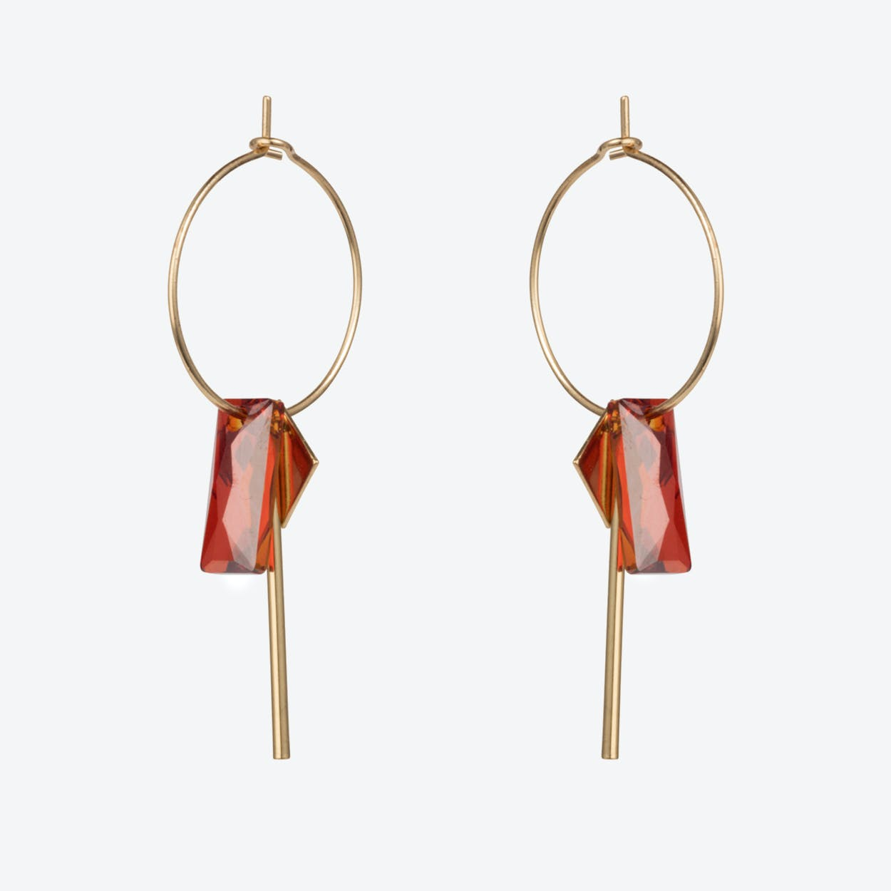 Crystal Baguette Hoop Earrings – Magma