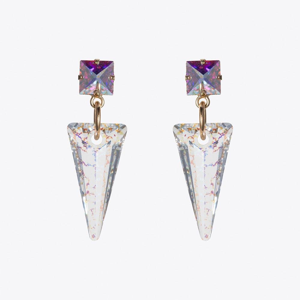 Shard Earrings in Black Patina
