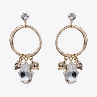 Hamsa Earrings in Gold