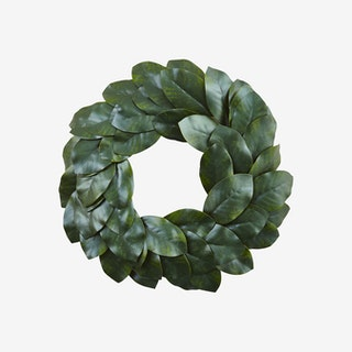 Magnolia Leaf Wreath - Green