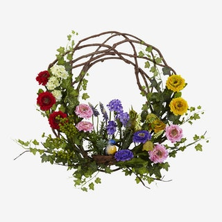 Spring Floral Wreath - Assorted