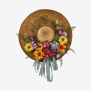 Mixed Floral Hat Wreath - Assorted