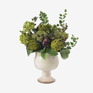 Artichoke / Snowball Pot - Green