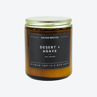 Amber Jar Soy Candle - Desert and Agave